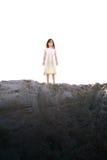 Meisje op Heuvel Stock Foto