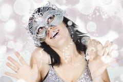 Meisje op magische maskerade royalty-vrije stock fotografie