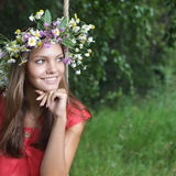 Meisje op schommeling Royalty-vrije Stock Afbeeldingen