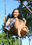 Meisje op schommeling Stock Foto