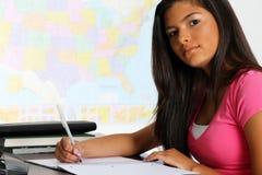 Meisje op School Stock Foto
