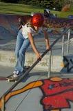 Meisje op Skateboard Stock Afbeeldingen
