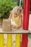 Meisje op speelplaats royalty-vrije stock foto's