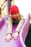 Meisje op speelplaats Royalty-vrije Stock Afbeeldingen