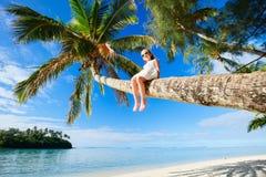 Meisje op strandvakantie Royalty-vrije Stock Fotografie