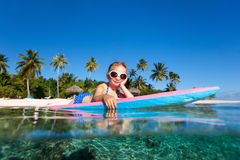 Meisje op vakantie Stock Afbeelding
