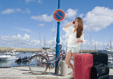 Meisje op vakanties royalty-vrije stock fotografie