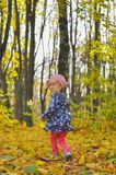 Meisje in openlucht stock afbeelding