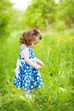 Meisje in openlucht Stock Foto's