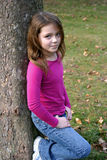Meisje in Park Royalty-vrije Stock Foto's
