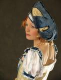 Meisje in Poolse kleren van eeuw 16 Stock Afbeeldingen