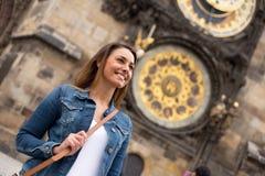 Meisje in Praag royalty-vrije stock afbeelding