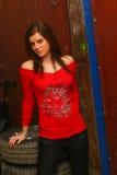 Meisje in red2 Stock Afbeelding