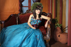 Meisje in retro stijl Royalty-vrije Stock Foto's