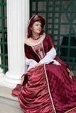 Meisje in rode kleding Royalty-vrije Stock Foto
