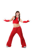 Meisje in rode kleren Royalty-vrije Stock Foto