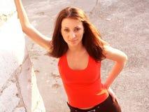 Meisje in rood Royalty-vrije Stock Fotografie