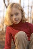 Meisje in rood Royalty-vrije Stock Afbeeldingen