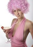 Meisje in roze Royalty-vrije Stock Afbeelding