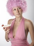 Meisje in roze Stock Afbeeldingen