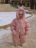 Meisje - roze engel Royalty-vrije Stock Fotografie