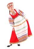 Meisje in Russisch nationaal kostuum Stock Fotografie
