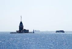 Meisje` s Toren, Istanboel, een beroemd symbool van Turkije stock afbeelding