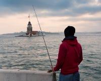 Meisje` s Toren, Istanboel, Turkije stock fotografie