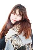 Meisje in sjaal stock afbeeldingen