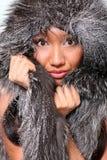 Meisje in sneeuw Royalty-vrije Stock Afbeeldingen