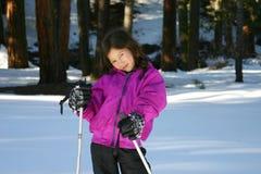 Meisje in sneeuwschoenen royalty-vrije stock foto