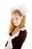 Meisje in sovjet eenvormige school Royalty-vrije Stock Afbeeldingen