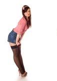 Meisje speld-op het stileren Stock Afbeeldingen