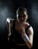 Meisje in sport Stock Foto