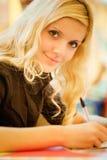 Meisje-student royalty-vrije stock foto's
