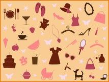 Meisje stuff2 stock illustratie