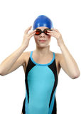 Meisje in swimwear Stock Foto