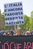 Meisje tegen Fascisme Royalty-vrije Stock Afbeeldingen