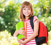 Meisje terug naar school Stock Afbeelding