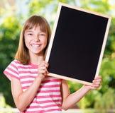 Meisje terug naar school Stock Afbeeldingen