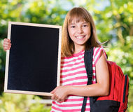 Meisje terug naar school Royalty-vrije Stock Fotografie