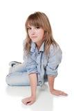 Meisje - tiener in studio Stock Afbeelding