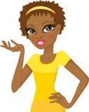 Meisje van Afrikaanse afdaling royalty-vrije illustratie