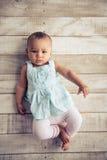 Meisje van de Afro het Amerikaanse baby Stock Foto