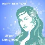 Meisje van de Winter Royalty-vrije Stock Afbeelding