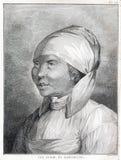 Meisje van het Schiereiland van Kamchatka in Rusland - Kapiteins Cook Voyage 1776 -1779 Royalty-vrije Stock Foto's