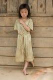 Meisje van Laos in vuile kleren Stock Afbeeldingen