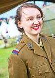 Meisje van NAAFI in Wereldoorlog 1 Royalty-vrije Stock Foto's