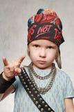 Meisje-ventilator van rots-muziek Royalty-vrije Stock Afbeelding