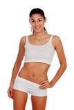 Meisje in wit ondergoed Stock Foto